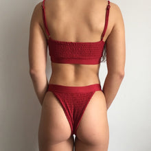 Load image into Gallery viewer, Shell bikini in red