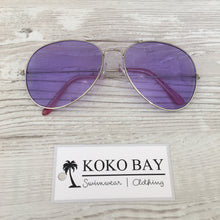 Load image into Gallery viewer, Aviator sunglasses in purple