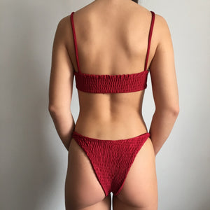 Ripple bikini in red