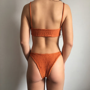 Ripple bikini in orange