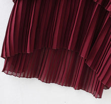 Load image into Gallery viewer, Karlie frill hem dress in burgundy