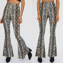 Load image into Gallery viewer, Emerson flare trousers in snake print