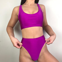 Load image into Gallery viewer, Alana high waisted bikini in neon purple