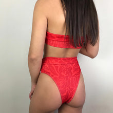 Load image into Gallery viewer, Nala lace up bikini in red