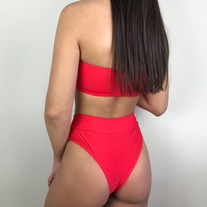 Lori bandeau bikini in red