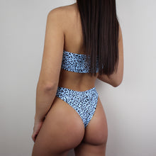 Load image into Gallery viewer, Bali leopard print bikini in blue