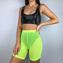 Load image into Gallery viewer, Gia mesh shorts in neon green