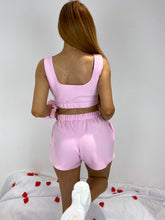 Load image into Gallery viewer, Fleece oversized shorts in pink