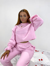 Load image into Gallery viewer, Fleece oversized jumper in pink