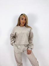 Load image into Gallery viewer, Oversized cord joggers in beige