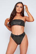 Load image into Gallery viewer, Georgia sequin bikini in black and gold