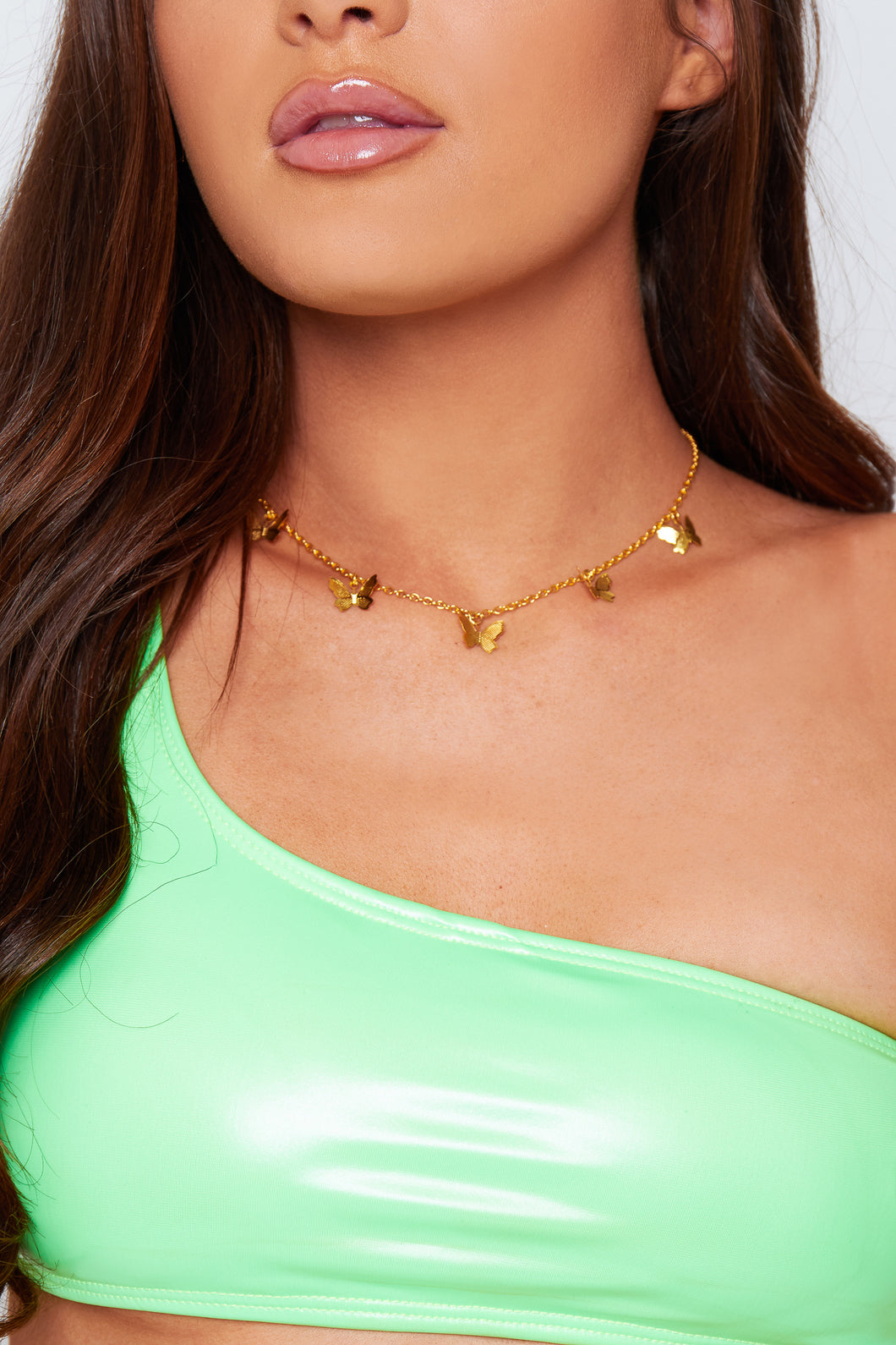 Butterfly necklace in gold