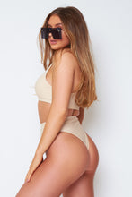 Load image into Gallery viewer, Alana high waisted bikini in nude