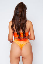 Load image into Gallery viewer, Eve velvet bikini in neon orange