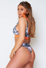 Load image into Gallery viewer, Cuba bikini in green camo print
