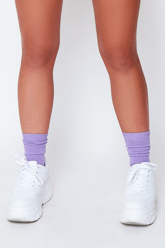 Ankle socks in lilac