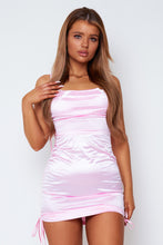 Load image into Gallery viewer, Macy satin dress in baby pink
