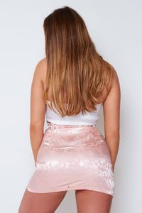 Zuri satin skirt in pink