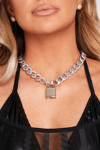 Load image into Gallery viewer, Chunky padlock necklace in silver