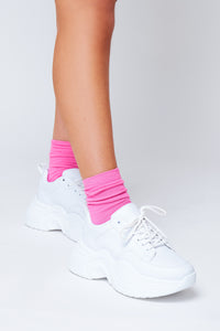 Ankle socks in baby pink