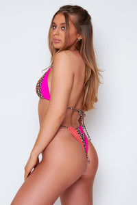 Samara bikini in pink and orange