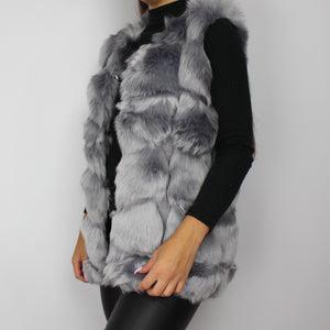 Mara faux fur gilet in grey