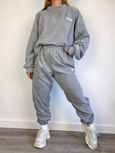 Oversized cord joggers in grey