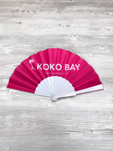 Koko bay fan in pink