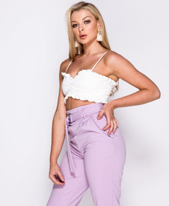 Jenna tapered trousers in lilac