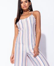 Load image into Gallery viewer, Lani stripe wide leg jumpsuit