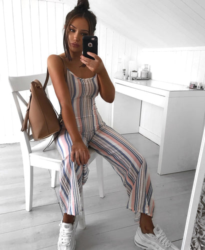 Lani stripe wide leg jumpsuit