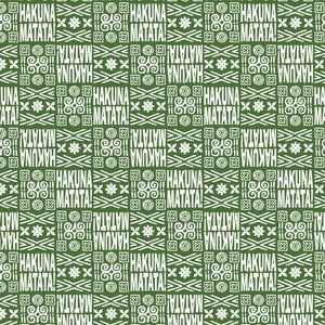 Fat Quarter Lion King Tribal Green