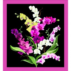 Orchid Fancy Black Panel