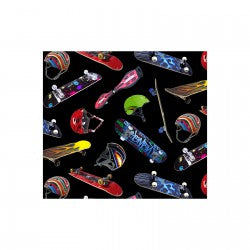 Fat Quarters Sports Collection 419 Black