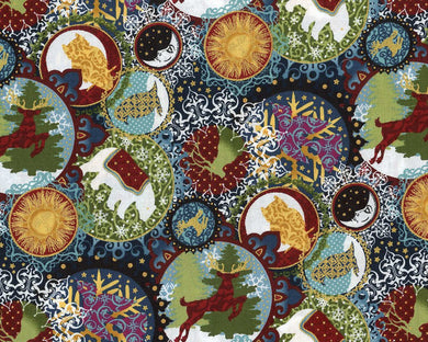 Fat Quarters Celestial Winter  MET 2ACW 2M