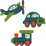 Applique Elements - Plane, Train & Automobile