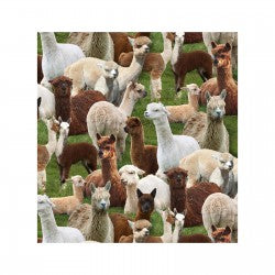 Fat Quarters Farm Animals 445 Green