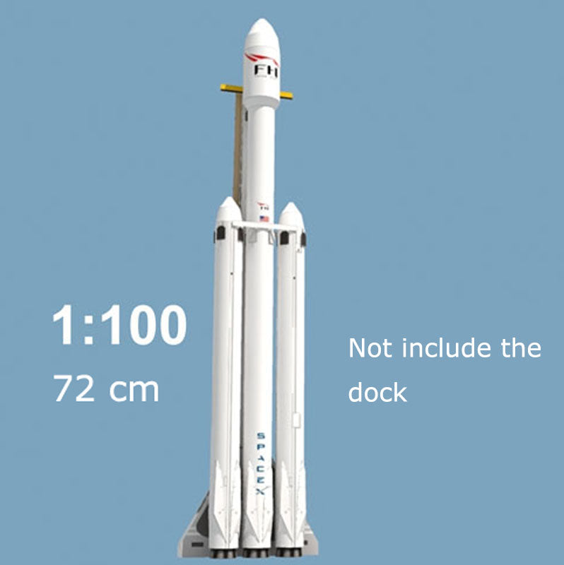 'Falcon Heavy SpaceX - Medium' Cardboard and Paper Model Toy Construction  Build Kit