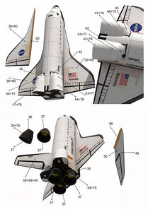DIY Paper Craft 1:150 Scale Space Shuttle Atlantis Puzzle Handmade Paper  Model Rocket DIY Paper Art Education Toy