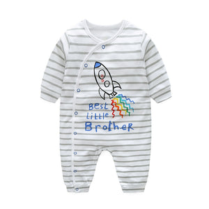 5d35869801c Hooyi Stripe Baby Boys Rompers 100% Cotton Bebe Ropa Long Romper Pajamas  Sleepwear Soft Comfortable Baby Clothes Rocket