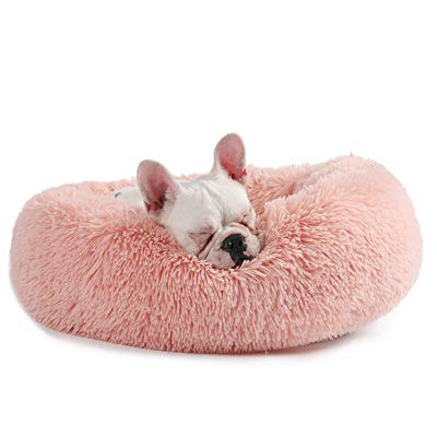 Faux Fur Donut Cuddler Cat/Puppy Bed