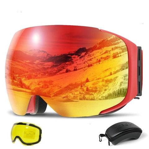 COPOZZ MAGNETIC DUAL USE SNOW GOGGLES - DAY & NIGHT