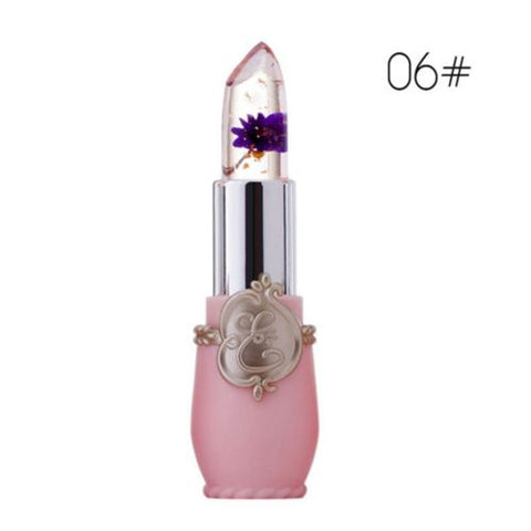 Flower Lipstick Color Jelly Transparent Temperature Change matte lipstick set