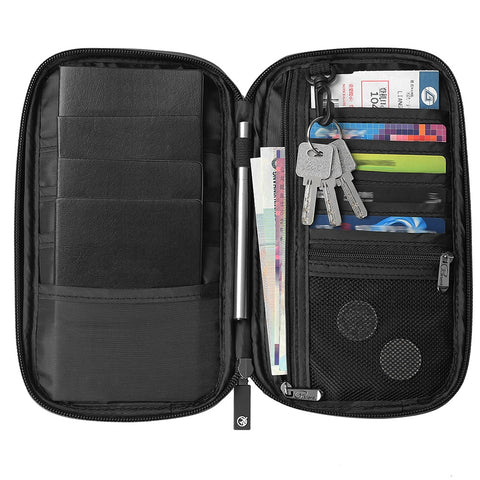 Travel Wallet RFID Blocking Passport Holder Organiser