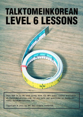 [E-book] TalkToMeInKorean Level 6 lessons (TTMIK Grammar E-books)