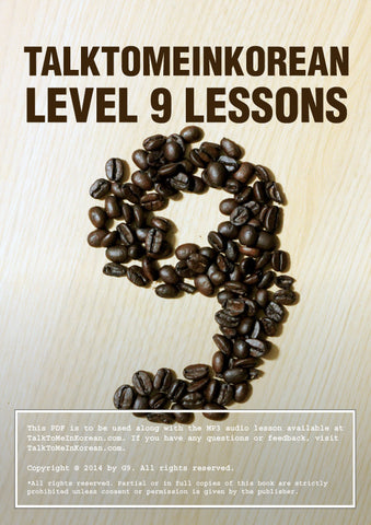 [E-book] TalkToMeInKorean Level 9 lessons (TTMIK Grammar E-books)