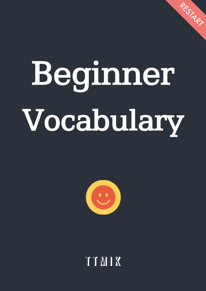 Beginner Vocabulary (Verbs Guide + Flashcards + Numbers)