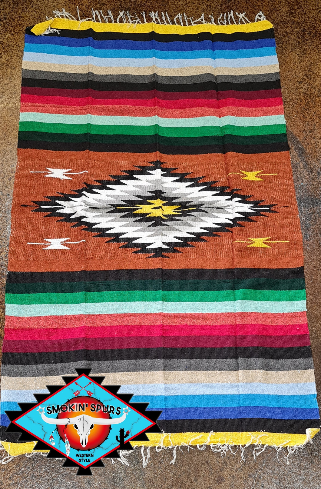 Mexican 'Amber' handwoven blanket
