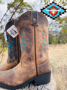 Smoky Mountain leather boot 'FLORA'  youth  4-7