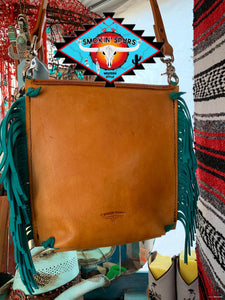 Smokin'Spurs own 'Arizona Sky' leather messenger bag